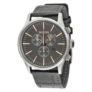 A405-2145 Sentry Men's Grey Leather Band Watch